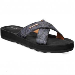 Coach | Janine Criss-cross Slip On Sandals 6